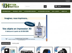 Le nouveau site d'option-hightech